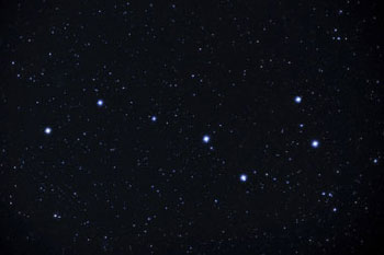 The Big Dipper as seen through a binocular