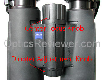 Zeiss diopter adjustment and focus