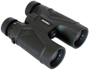 Angled view of Carson 3D ED Binocular
