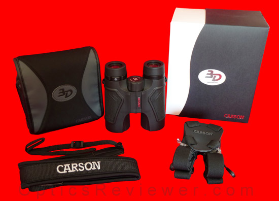 What comes with Carson 3D ED