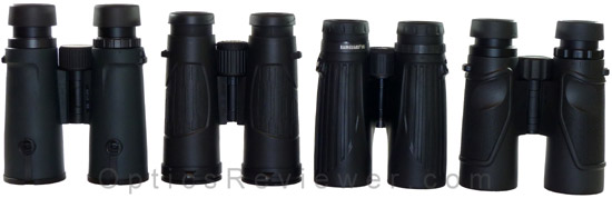 Nikon Monarch 5, Bushenll Legend Ultra HD, Leupold BX-2 Cascades and Carson 3D ED Comparison