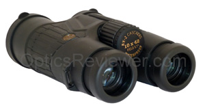 Angled view of Leupold Cascades 10X42 from occulars