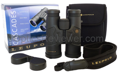 What you get with the Leupold Cascades 10X42