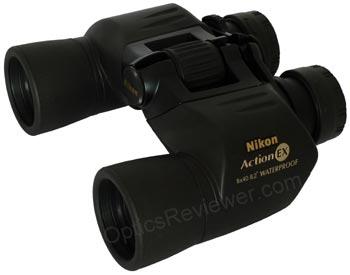 Angled view of Nikon Action EX Binocular