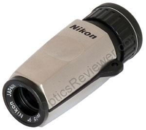 Angled view of Nikon High Grade monocular