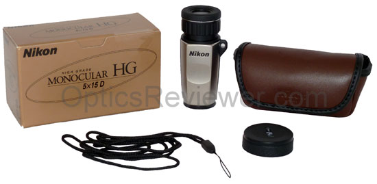 What comes with Nikon HG monocular