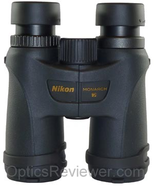Top view of Nikon Monarch 7 binocular
