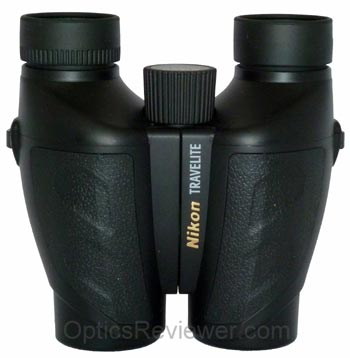 Top view of Nikon Travelite VI 10X25 binocular