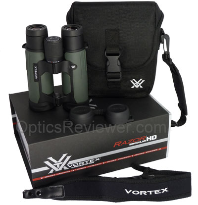 What you get with the Vortex Razor HD binoculars