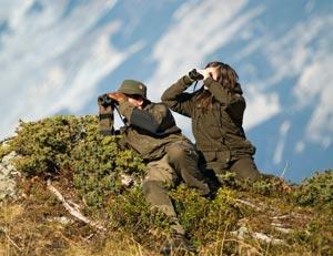 Austrians Using Binoculars