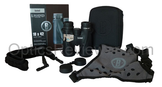 What you get with the Bushnell Legend Ultra HD