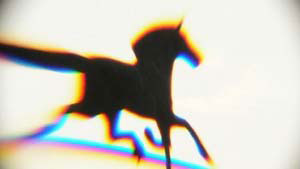 Chromatic Aberration around the outline of a horse