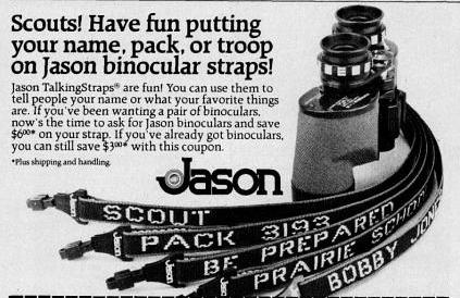 Advertisement for Jason Binoculars from 1982
