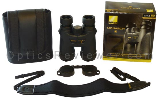 What comes with Nikon Monarch 7 binocular
