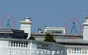 Spotting Scope and Large Binocular on White House Roof