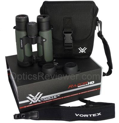 What you get with the Vortex Razor HD binoculars