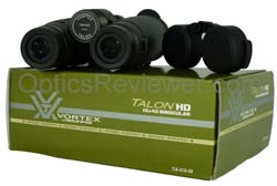 Vortex Talon HD with rain guard on its package