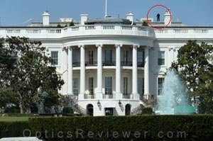 Back of White House - Security on Roof