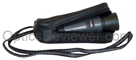 The Zeiss Monocular 6X18B DS in its carrying case