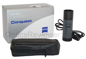 What you get with the Zeiss Monocular 6X18B DS